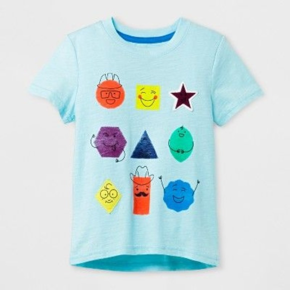 6bb4c5e2170 Cat & Jack Shirts & Tops | New Cat Jack Shapes Short Sleeve Tshirt ...